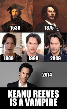 Keanu Reeves is a Vampire