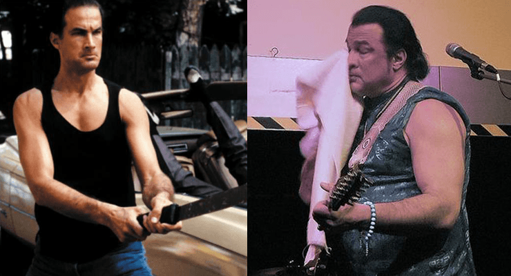 Steven Seagal then and now