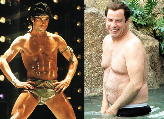 John Travolta then and now