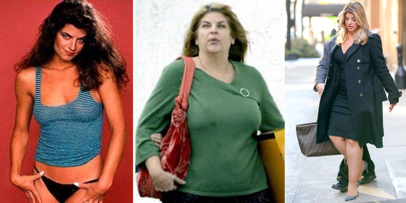 Kirstie Alley then and now