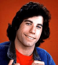 John Travolta's cleft chin